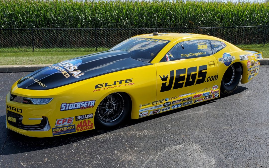 Troy Coughlin Jr. will promote Universal Parks and Resorts during key stretch of NHRA races