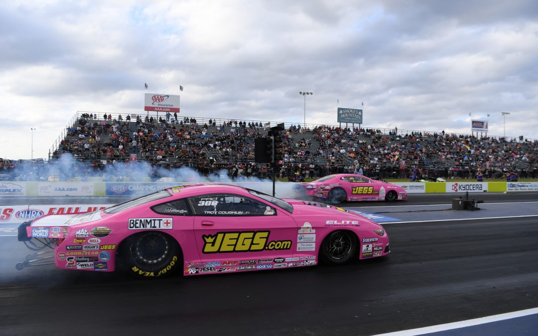 Top finishes at final two races of NHRA season a must for Jeg Coughlin Jr. & Teammate Troy Coughlin Jr. welcomes BENMIT as new sponsor