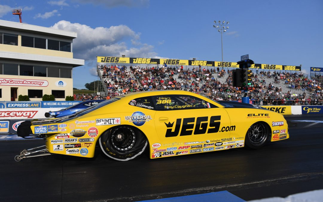 Semifinal finish in Reading pushes Pro Stocker Troy Coughlin Jr. up playoff rankings